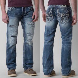 Rock Revival Warren Straight Distressed Jeans